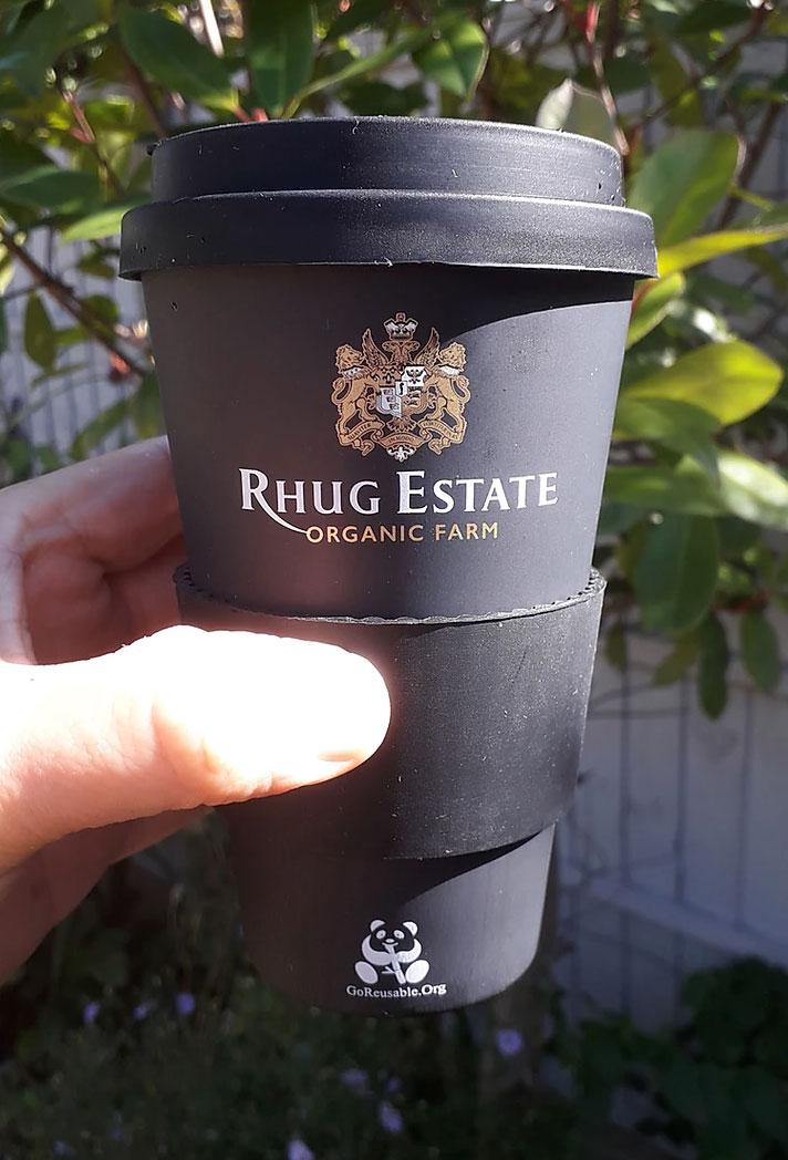 Rhug estate 'gold print' cup