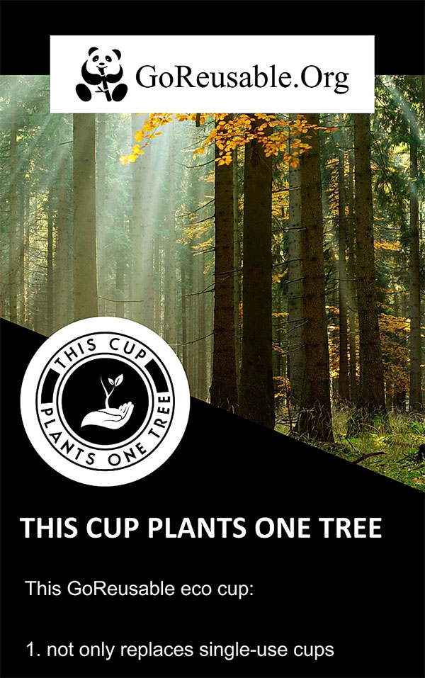 This cup plants one tree