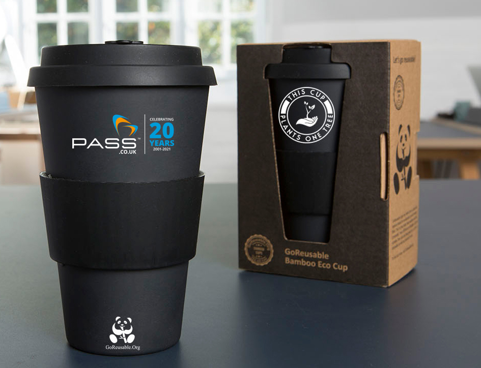 Pass Ltd Celebrate 20 years with GoReusable Eco Bamboo Cup